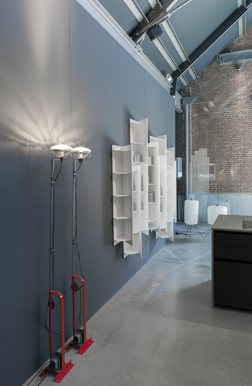 BOFFI antwerp bathroom lighting in showroom